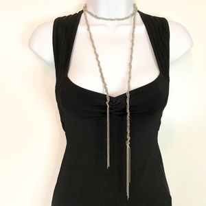 Jewelry - Stainless steel bead multi chain rope necklace